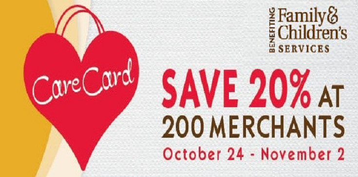Save 20% at 200 merchants from October 24th through November 2nd.